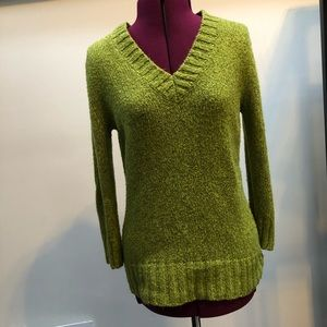 Nicole Miller chartreuse sweater